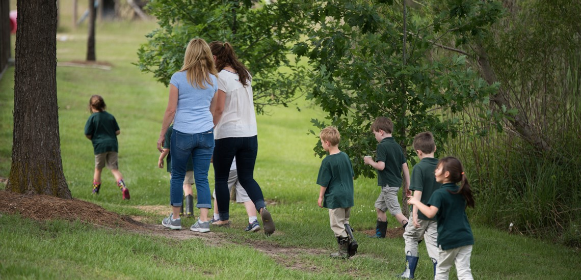 Parish School students nature walk