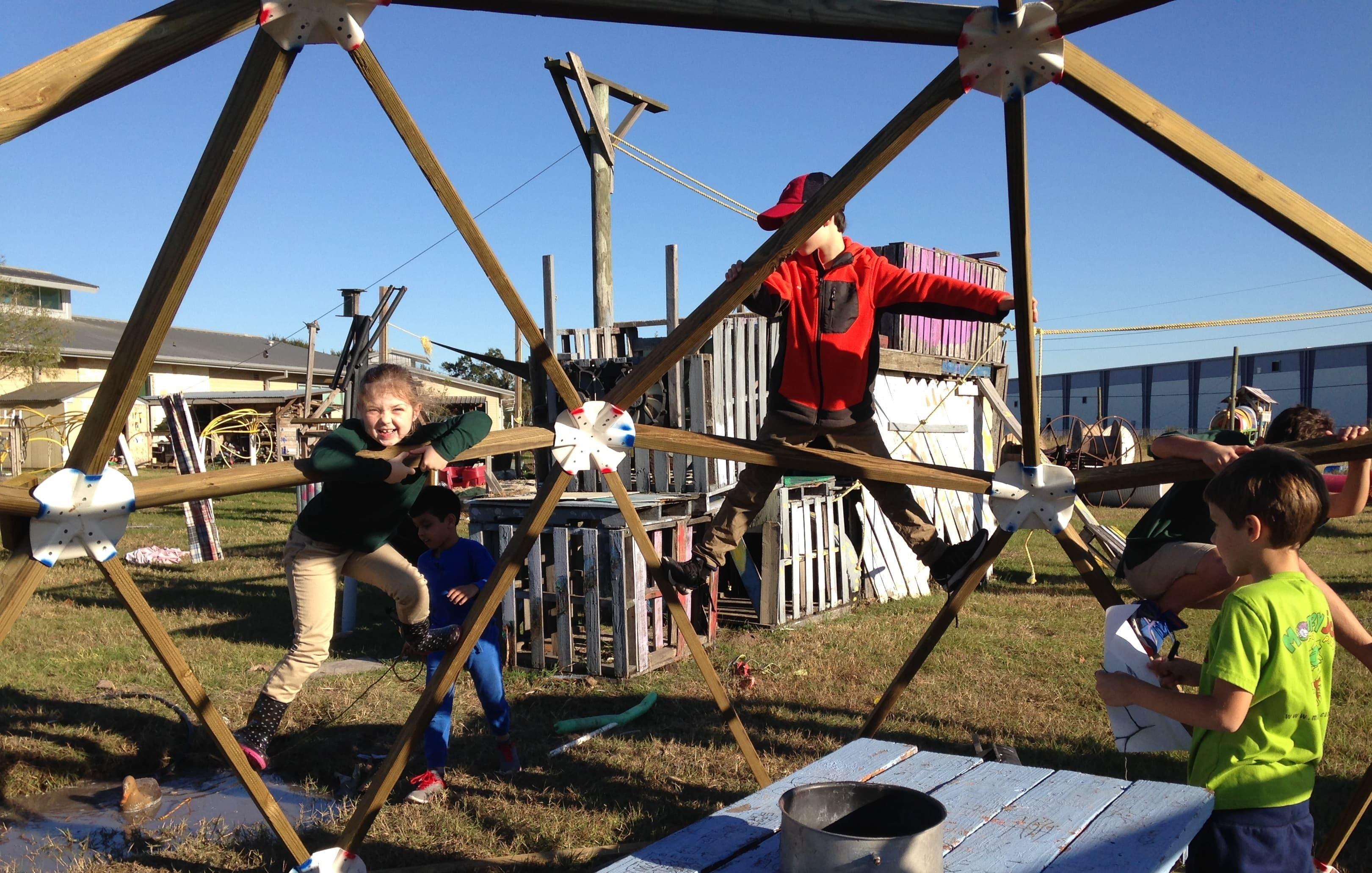 Adventure Play at Camp Acorn - climbing