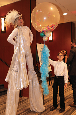 stiltwalker at Big Birthday Bash
