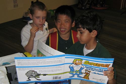 social learning at the parish school students read superflex