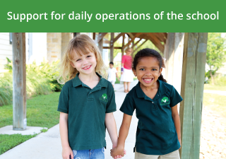 Support for daily operations of the school