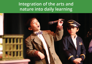 Integration of the arts and nature into daily learning