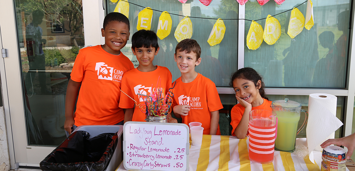 Camp Acorn Lemonade Stand