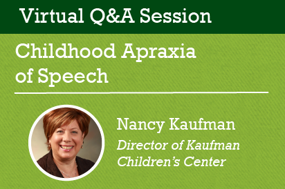 Q&A Session: Childhood Apraxia of Speech